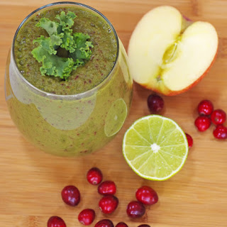 Cranberry-Lime Green Smoothie Recipe To Support Immune Function