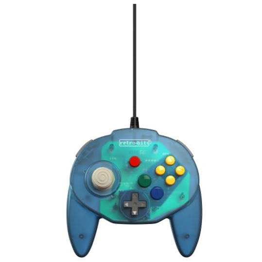 Retro-Bit Tribute 64 Ocean Blue