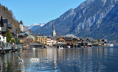 Hallstatt,Austria by Poli Paunova - City,  Street & Park  Neighborhoods ( amazing, view, alps, austria, lake, water )
