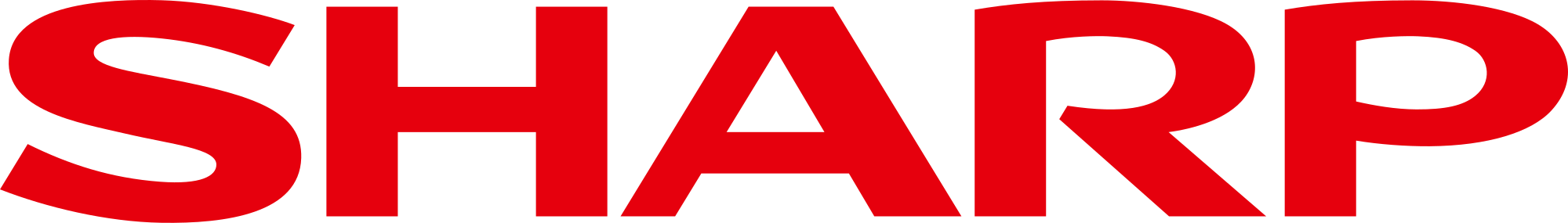 sharp logo transparant