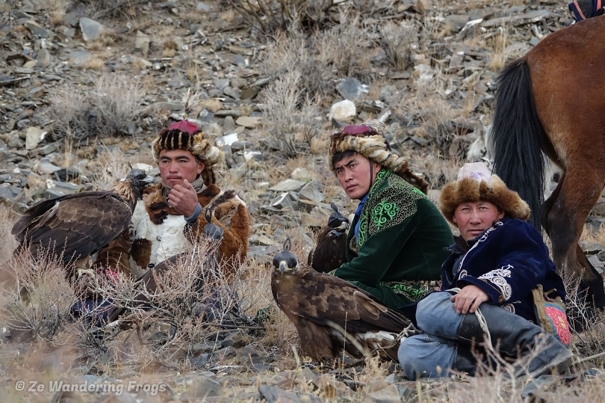 Mongolia. Golden Eagle Festival Olgii. Watching the competition during the Golden Eagle Festival