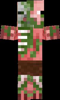 Zombie Pigman Nova Skin - Skins para minecraft pe zombie