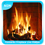 Romantic Fireplace Live Wallpaper APK icon