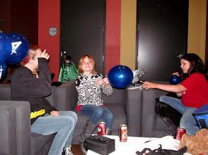 Photo: Kyla, Taylor & Julia blowing up baloons