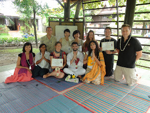 Photo: Certification day! The participants recieved internationally recognised Yoga teachet training certifcates after successfully passing the examination!