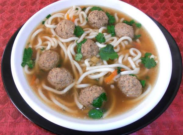 *mah*  Meatball Udon Nooble Soup