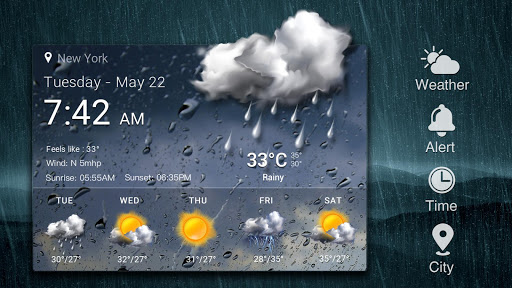 Daily & Hourly Weather Clock Widget  screenshots 15