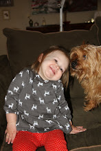 """Photo: 12/22 - This is, """"Who's Cute?"""" With Buster the Dog."""