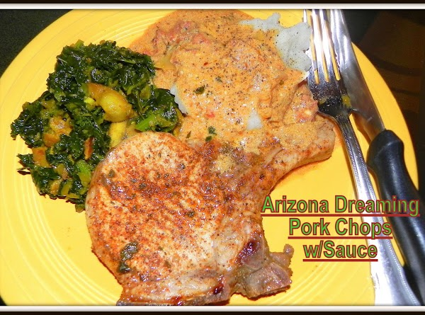10-27-13--Made this tonight with my recipe for Arizona Dreaming Pork Chops and sauce which...