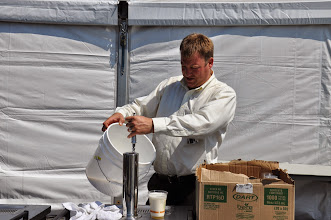 Photo: Greg gets ready for the keg party