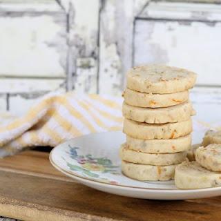 Walnut Meyer Lemon Shortbread Cookies.