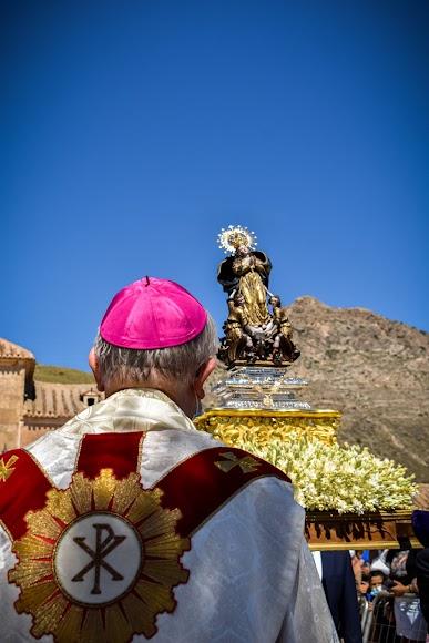 La procesión se realizó tras la Santa Misa.