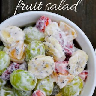 Simple Fruit Salad with Yogurt and Chia.