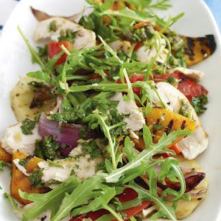 Grilled Chicken Salad with Italian Salsa Verde.