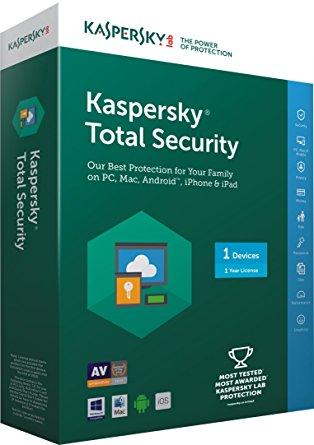 Phần mềm Kaspersky Total Security 1 máy tính
