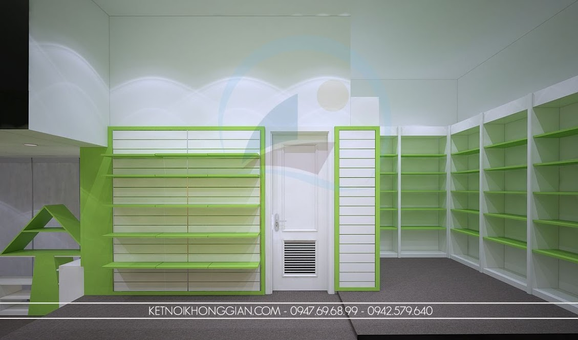thiết kế nội thất nhà sách quảng ninh