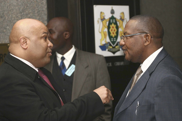 Spy boss Arthur Fraser and Vusi Pikoli.