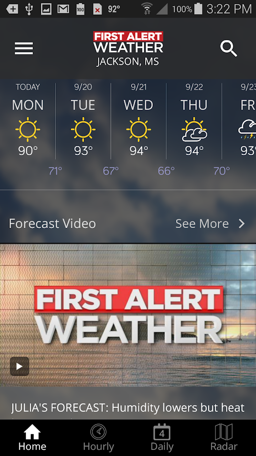 First Alert Weather- screenshot