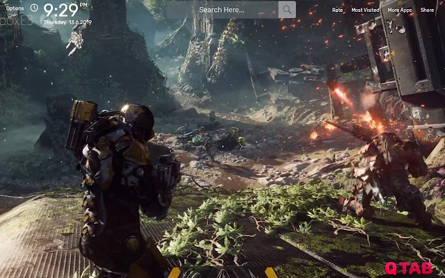 Anthem Game Wallpapers New Tab Theme