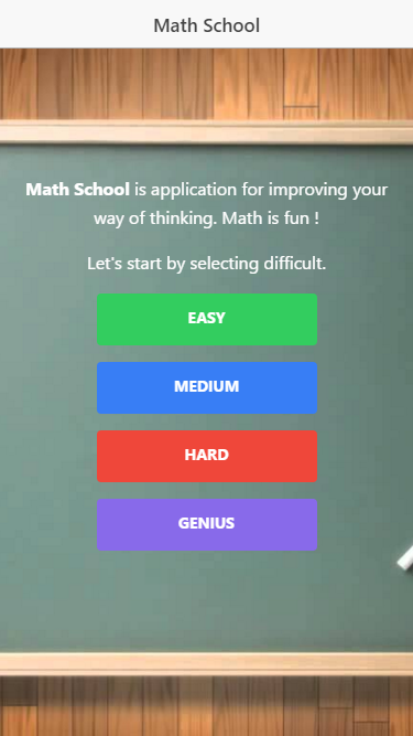 Math School- screenshot