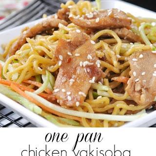 One Pan Chicken Yakisoba.