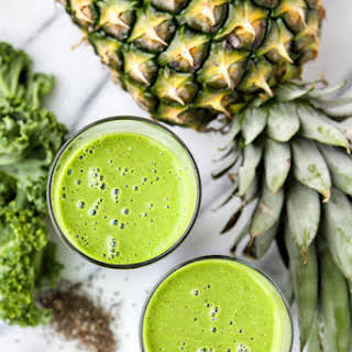 Pineapple Coconut Kale Smoothie.