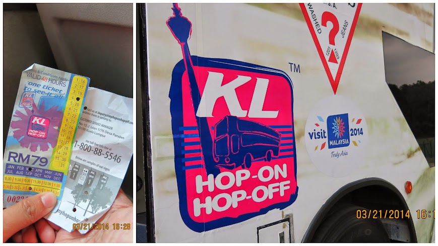 KL Hop On, Hop Off Bus and Ticket