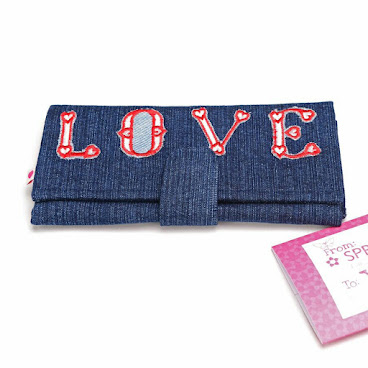 Honestly Heartfelt Denim Wallet
