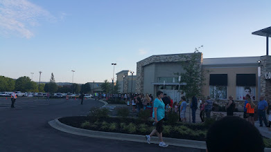 Photo: the line wrapped around the mall