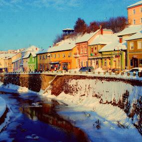 Noon by Dalibor Davidovic - City,  Street & Park  Neighborhoods ( winter, snow, neighborhood, sun, city )