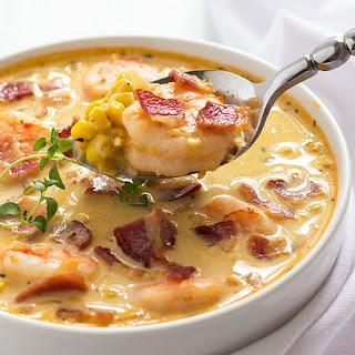 BACON, SHRIMP AND CORN CHOWDER