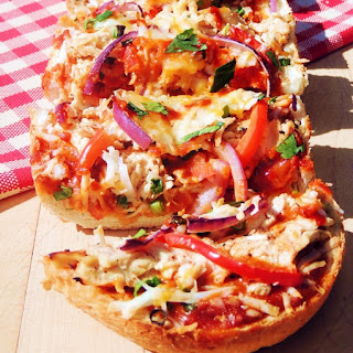 Thai Chicken French Bread Pizza