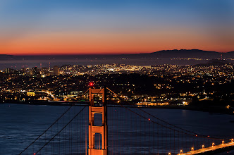 Photo: Sometimes, I am the early bird San Francisco, CA. 2012.  From the top of slacker hill, battling through some pretty gusty winds and cold temperatures. I think I could live in the city all my life and not run out of ways to shoot this scene.  Time for a cup of coffee, loving all the time off during these holidays, hope you are having as good a time as me.  #breakfastclub  #goldengatebridge