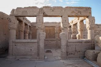 Photo: Dendara, rooftop, Kiosk for Hathor, built by Ptolemy XII