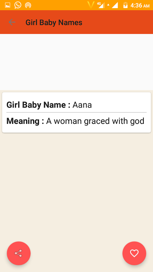 Christian Baby Names Meaning Screenshot