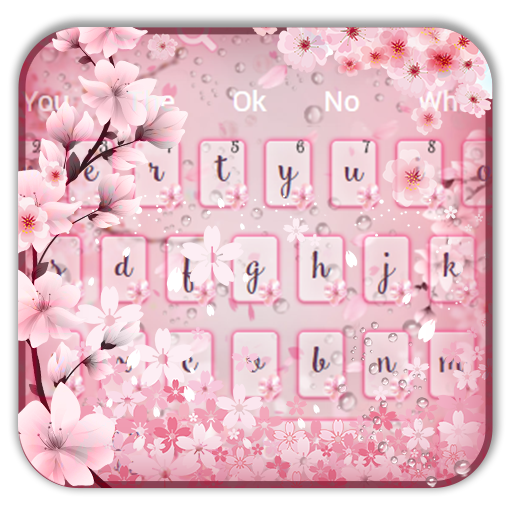 Pink Cherry Blossom Keyboard