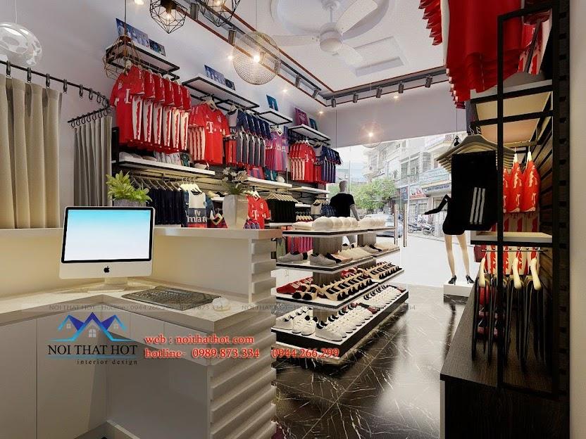 thiết kế cửa hàng thể thao hải dương
