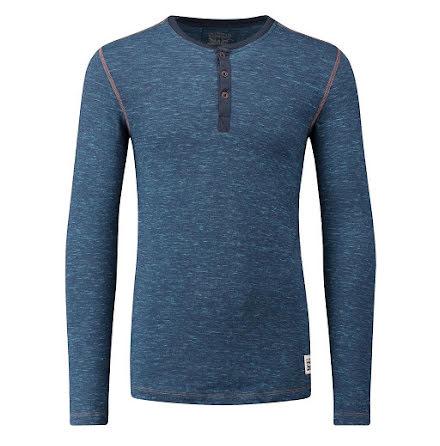 Levi's 300LS tri blend long sleeve henley blue jeans