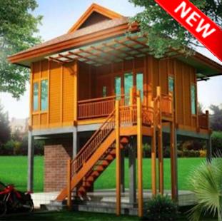 Kreativní dřevěný dům návrh nápady - náhled