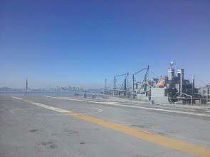 Photo: view of the flight deck