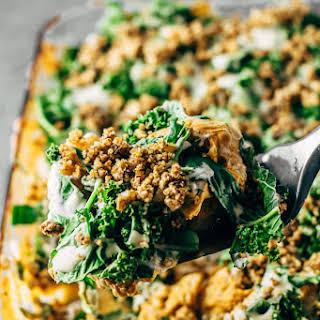 Healthy Vegan Buffalo Cauliflower Casserole.