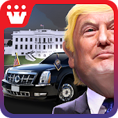 3D Car Driving Simulator - President Donald Trump
