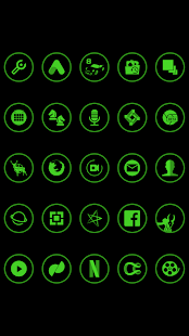 Green On Black Icons By Arjun Arora - náhled