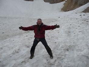 Photo: En el glaciar, empapado y lleno de barro, pero mereció la pena