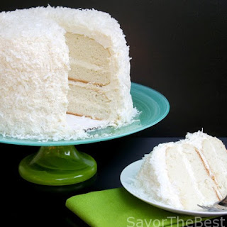 Coconut Cake with Awesome Coconut Butter-Cream Frosting.