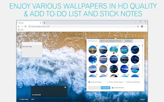 Blue Wallpaper HD Blue New Tab