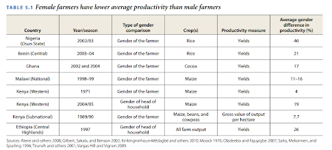 Photo: There seem to be some productivity differences between genders in some jobs. But as productivity is very hard to measure we cannot look at productivity in all kind of jobs. And institutional constrains can create these productivity differences in Third World Countries. There could theoretically be some productivity differences in physical jobs?  A study showed that men produce twice as many articles as professors. (Gad, 2011)    (WORLD DEVELOPMENT REPORT 2012. Gender differences in employment and why they matter. http://siteresources.worldbank.org/INTWDR2012/Resources/7778105-1299699968583/7786210-1315936222006/chapter-5.pdf )