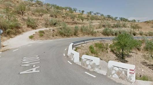 Carretera donde tuvo lugar el accidente, en el municipio de Cantoria.