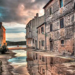 Rudina Pirovac by Branko Meic-Sidic - City,  Street & Park  Street Scenes ( hystorical, reflection, colourful, hdr, croatia, square, stonehouses, dramaticsky, colours, pirovac )