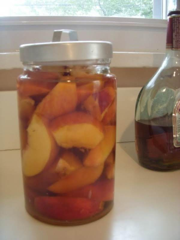 Homemade Peach Cordial